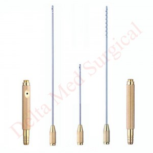 LIPOSUCTION CANNULA SET FOR FACE WITH THREADED HANDLE