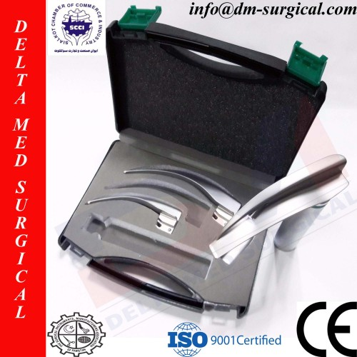 Macintosh Fiber Optic Laryngoscope Set of 3 Blades