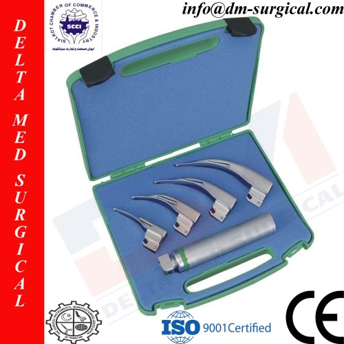 Macintosh Fiber Optic Laryngoscope Set