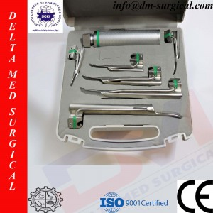 Miller Fiber Optic Laryngoscope Set of 6 Blades
