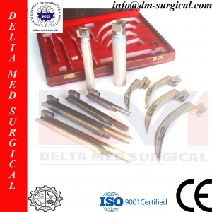 Original German Conventional Macintosh English Profile Full Laryngoscope Set