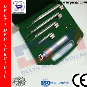 Miller Conventional Laryngoscope Set of 4 Blades
