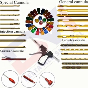 Fat harvesting Liposuction Cannulas Set Of  270 Pcs Cannulas With Different Type & Size And Threaded Fitting Cannula , 60cc Toomey Cannulas, Fixed Handle Liposuction Cannula