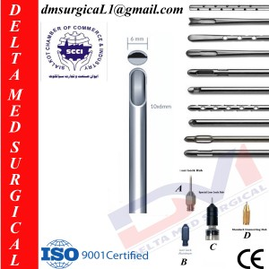 LIPOSUCTION CANNULA and ONE CENTRAL HOLE 6 MM AND TIP WITH HOLD
