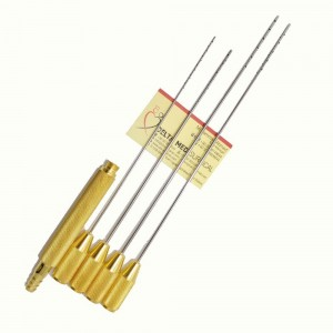 Liposuction Cannula Set for Abdomen and Saddlebag With Threaded Fitting