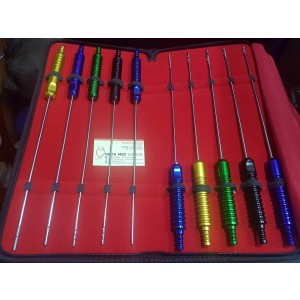 Liposuction Cannula Set of 10 pieces Fixed Handle